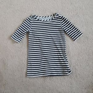 Old navy blue and white striped 3/4 shirt size 3T